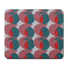 Pink Red Grey Three Art Large Mousepads by Mariart