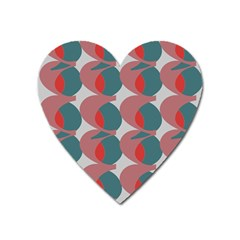 Pink Red Grey Three Art Heart Magnet by Mariart