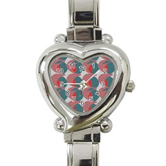 Pink Red Grey Three Art Heart Italian Charm Watch by Mariart