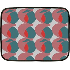 Pink Red Grey Three Art Double Sided Fleece Blanket (mini)  by Mariart