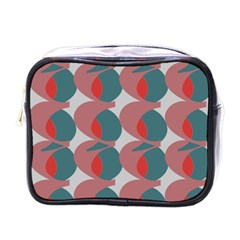 Pink Red Grey Three Art Mini Toiletries Bags by Mariart