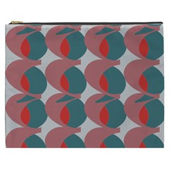 Pink Red Grey Three Art Cosmetic Bag (xxxl)  by Mariart