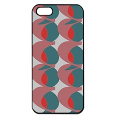 Pink Red Grey Three Art Apple Iphone 5 Seamless Case (black) by Mariart