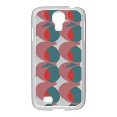 Pink Red Grey Three Art Samsung Galaxy S4 I9500/ I9505 Case (white) by Mariart