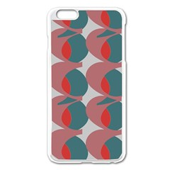 Pink Red Grey Three Art Apple Iphone 6 Plus/6s Plus Enamel White Case by Mariart