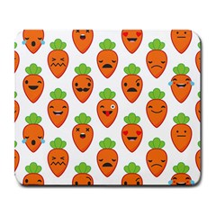 Seamless Background Carrots Emotions Illustration Face Smile Cry Cute Orange Large Mousepads by Mariart