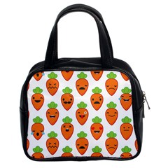 Seamless Background Carrots Emotions Illustration Face Smile Cry Cute Orange Classic Handbags (2 Sides) by Mariart