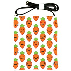 Seamless Background Carrots Emotions Illustration Face Smile Cry Cute Orange Shoulder Sling Bags by Mariart