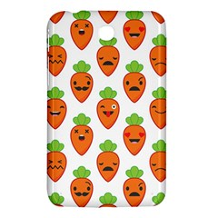 Seamless Background Carrots Emotions Illustration Face Smile Cry Cute Orange Samsung Galaxy Tab 3 (7 ) P3200 Hardshell Case  by Mariart