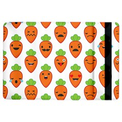 Seamless Background Carrots Emotions Illustration Face Smile Cry Cute Orange Ipad Air 2 Flip by Mariart