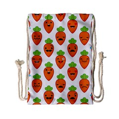 Seamless Background Carrots Emotions Illustration Face Smile Cry Cute Orange Drawstring Bag (small) by Mariart