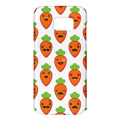 Seamless Background Carrots Emotions Illustration Face Smile Cry Cute Orange Samsung Galaxy S7 Edge Hardshell Case by Mariart