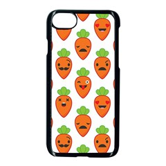 Seamless Background Carrots Emotions Illustration Face Smile Cry Cute Orange Apple Iphone 7 Seamless Case (black) by Mariart
