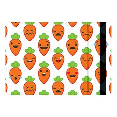 Seamless Background Carrots Emotions Illustration Face Smile Cry Cute Orange Apple Ipad Pro 10 5   Flip Case by Mariart