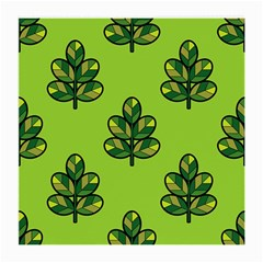Seamless Background Green Leaves Black Outline Medium Glasses Cloth