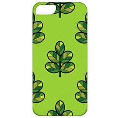 Seamless Background Green Leaves Black Outline Apple Iphone 5 Classic Hardshell Case by Mariart