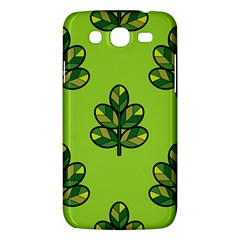 Seamless Background Green Leaves Black Outline Samsung Galaxy Mega 5 8 I9152 Hardshell Case  by Mariart