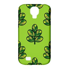 Seamless Background Green Leaves Black Outline Samsung Galaxy S4 Classic Hardshell Case (pc+silicone) by Mariart