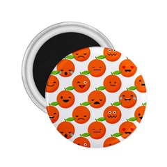 Seamless Background Orange Emotions Illustration Face Smile  Mask Fruits 2 25  Magnets by Mariart
