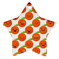 Seamless Background Orange Emotions Illustration Face Smile  Mask Fruits Ornament (star) by Mariart