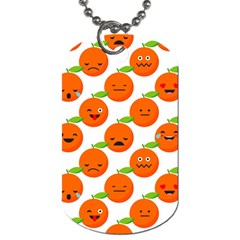 Seamless Background Orange Emotions Illustration Face Smile  Mask Fruits Dog Tag (two Sides) by Mariart
