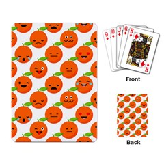 Seamless Background Orange Emotions Illustration Face Smile  Mask Fruits Playing Card by Mariart