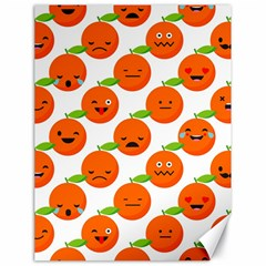 Seamless Background Orange Emotions Illustration Face Smile  Mask Fruits Canvas 18  X 24   by Mariart
