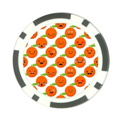 Seamless Background Orange Emotions Illustration Face Smile  Mask Fruits Poker Chip Card Guard (10 Pack) by Mariart