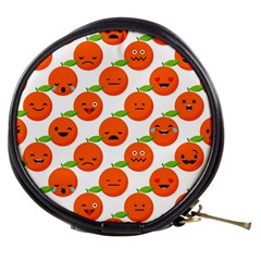 Seamless Background Orange Emotions Illustration Face Smile  Mask Fruits Mini Makeup Bags