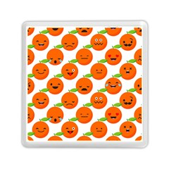 Seamless Background Orange Emotions Illustration Face Smile  Mask Fruits Memory Card Reader (square)  by Mariart