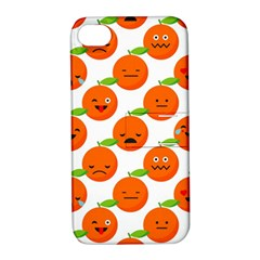 Seamless Background Orange Emotions Illustration Face Smile  Mask Fruits Apple Iphone 4/4s Hardshell Case With Stand by Mariart