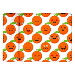 Seamless Background Orange Emotions Illustration Face Smile  Mask Fruits Samsung Galaxy Tab 10 1  P7500 Flip Case by Mariart