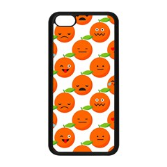 Seamless Background Orange Emotions Illustration Face Smile  Mask Fruits Apple Iphone 5c Seamless Case (black) by Mariart