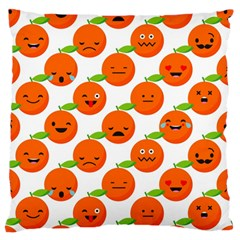 Seamless Background Orange Emotions Illustration Face Smile  Mask Fruits Standard Flano Cushion Case (two Sides) by Mariart