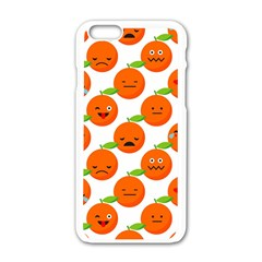 Seamless Background Orange Emotions Illustration Face Smile  Mask Fruits Apple Iphone 6/6s White Enamel Case by Mariart