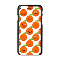 Seamless Background Orange Emotions Illustration Face Smile  Mask Fruits Apple Iphone 6/6s Black Enamel Case by Mariart