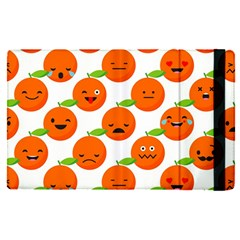 Seamless Background Orange Emotions Illustration Face Smile  Mask Fruits Apple Ipad Pro 12 9   Flip Case by Mariart
