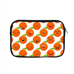 Seamless Background Orange Emotions Illustration Face Smile  Mask Fruits Apple Macbook Pro 15  Zipper Case by Mariart
