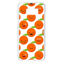 Seamless Background Orange Emotions Illustration Face Smile  Mask Fruits Samsung Galaxy S8 Plus White Seamless Case