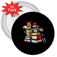 Back To School 3  Buttons (10 Pack)  by Valentinaart