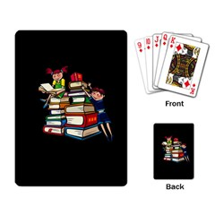 Back To School Playing Card by Valentinaart