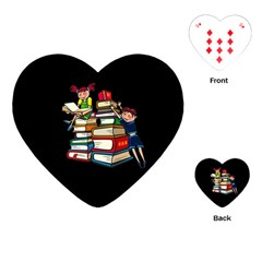 Back To School Playing Cards (heart)  by Valentinaart