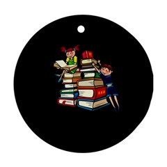 Back To School Round Ornament (two Sides) by Valentinaart