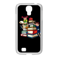Back To School Samsung Galaxy S4 I9500/ I9505 Case (white) by Valentinaart