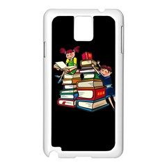 Back To School Samsung Galaxy Note 3 N9005 Case (white) by Valentinaart