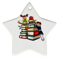 Back To School Star Ornament (two Sides) by Valentinaart