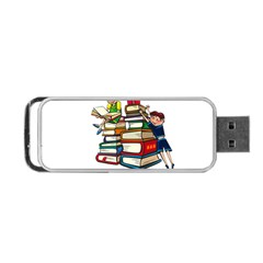 Back To School Portable Usb Flash (one Side) by Valentinaart
