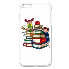 Back To School Apple Iphone 6 Plus/6s Plus Enamel White Case by Valentinaart