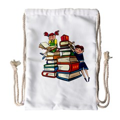 Back To School Drawstring Bag (large) by Valentinaart