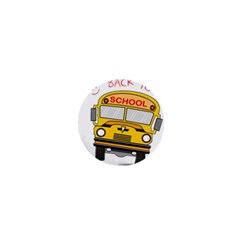 Back To School   School Bus 1  Mini Buttons